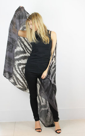 Grey tonal animal tie-dye scarf by Scarlett Black London Product photo
