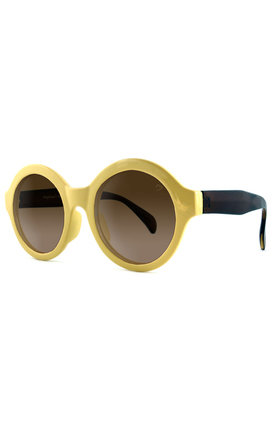 Retro round yellow 1970's sunglasses by Ruby Rocks Sunglasses Product photo