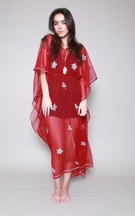Red::Silver indian kaftan by Silver Birch Product photo