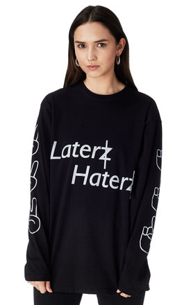 Laterz haterz long sleeved t by Bill and Mar Product photo