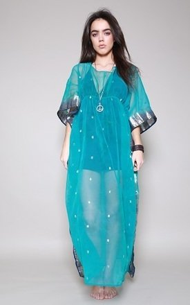 Blue indian kaftan by Silver Birch Product photo
