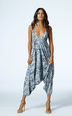 Genie jumpsuit in silver water  by Dancing Leopard Product photo