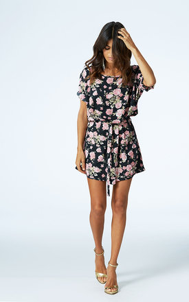Ibiza dress in black floral by Dancing Leopard Product photo