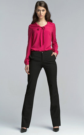 Black bootcut trousers by Lanti Product photo