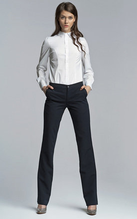 Navy bootcut trousers by Lanti Product photo