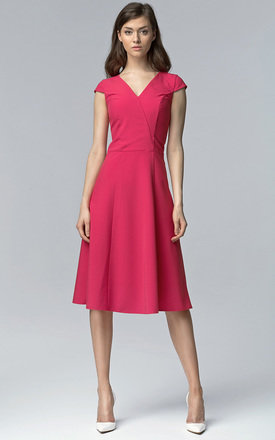 Fuchsia midi dress by Lanti Product photo