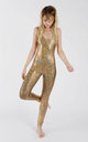 Gold Holographic Disco Mermaid Catsuit by Tirade 13