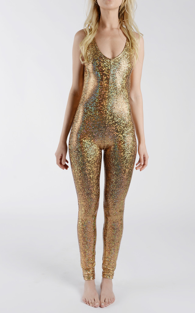 Gold Disco Mermaid Catsuit Silkfred