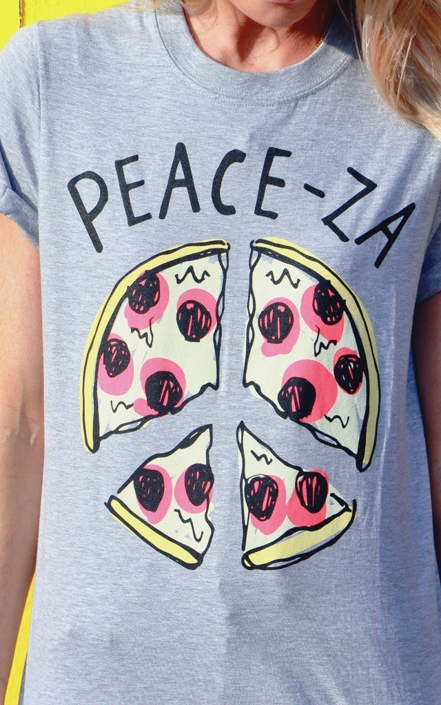 Peace-Za T-Shirt by Adolescent Clothing
