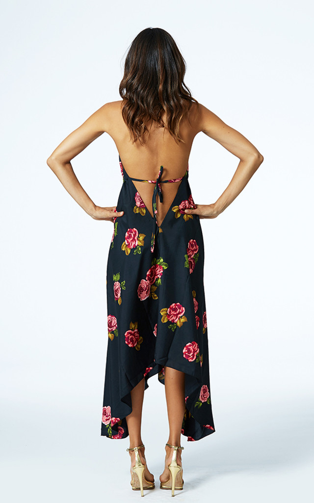 Boho Maxi in Rose Print by Dancing Leopard
