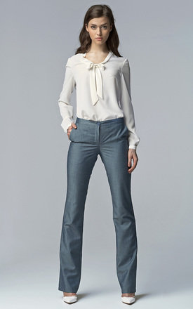 Bootcut trousers - jeans blue by Lanti Product photo