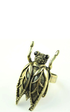 Kitsch bronze bug ring by Emi Jewellery Product photo