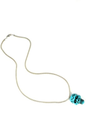 Turquoise skull necklace by Emi Jewellery Product photo