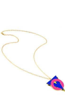 Triangle & circle necklace by Emi Jewellery Product photo