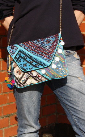 Blue banjara clutch by be-snazzy Product photo