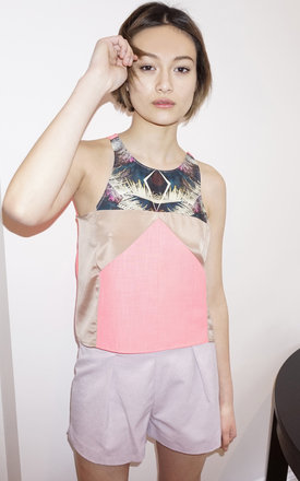 Mai palm print top by Silence Beyond Syllables Product photo