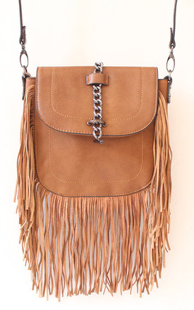 Brown fringed bag  by Liquorish Product photo