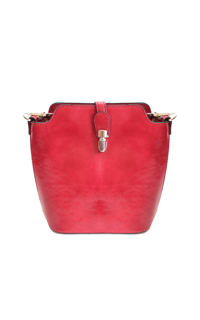 Red Bucket Style Bag by Liquorish