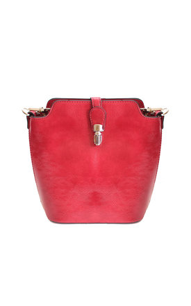 Red bucket style bag by Liquorish Product photo
