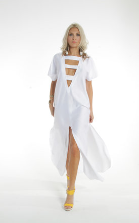 White ibiza kaftan by ILL DISCIPLINED Product photo
