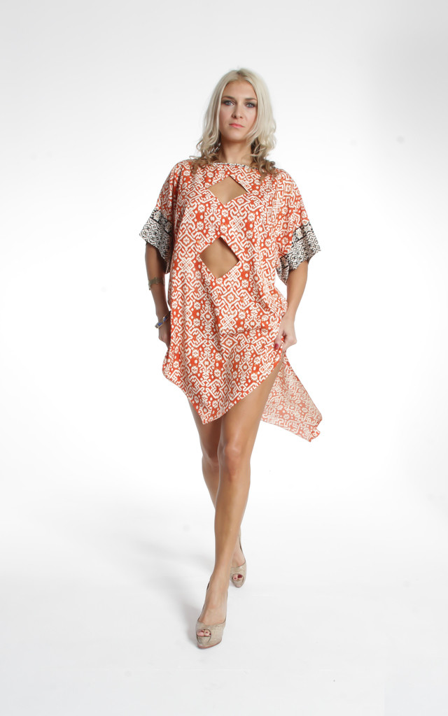 Orange Batik Kudata Kaftan by ILL DISCIPLINED