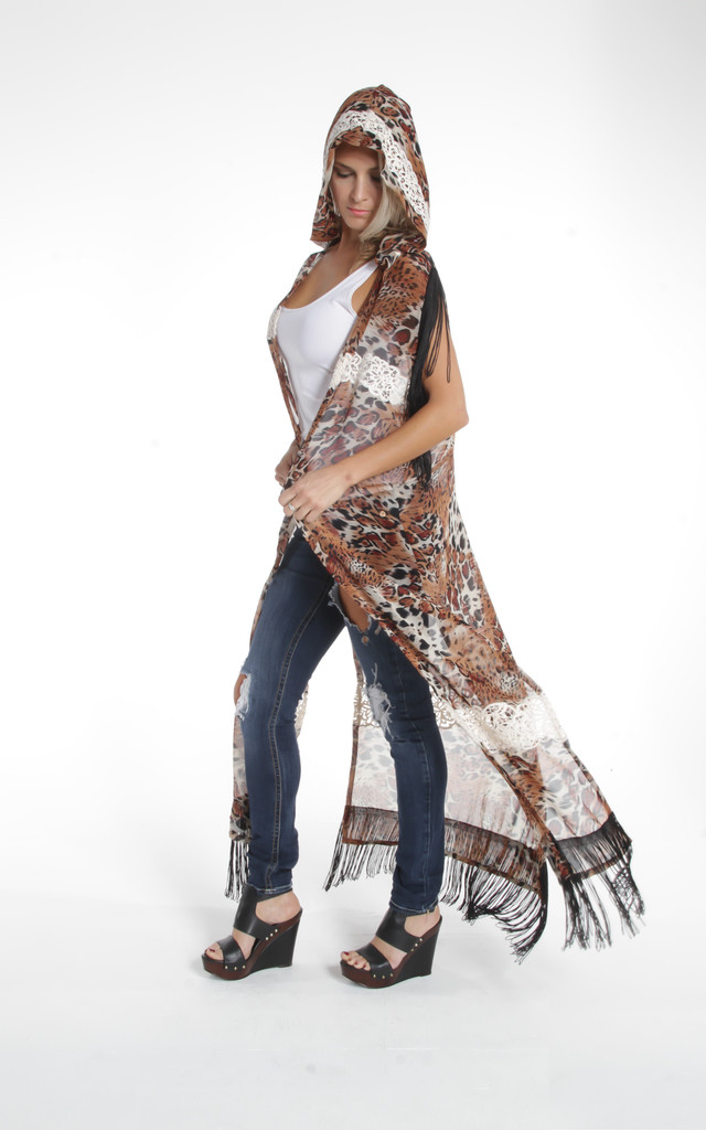 Crochet Leopard Woo Cape by ILL DISCIPLINED