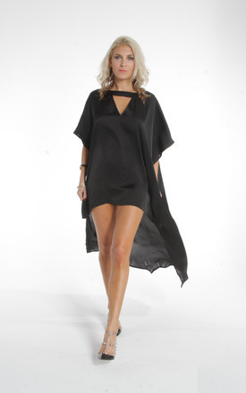 Black marbella kaftan by ILL DISCIPLINED Product photo