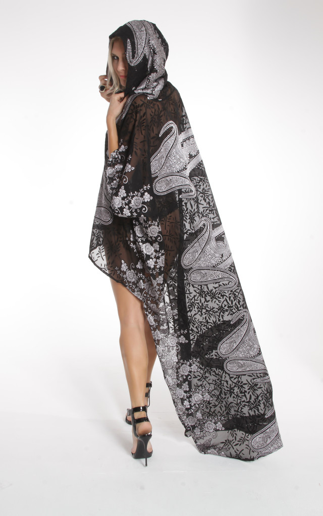 Bali Black Hooded Kaftan by ILL DISCIPLINED