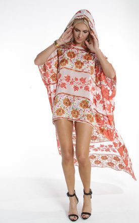 Orange Batik Hooded Kaftan by ILL DISCIPLINED