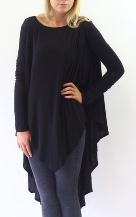Godiva black long sleeve oversize top by LagenLuxe Product photo