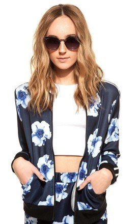 Sporty floral bomber by We Run This Product photo