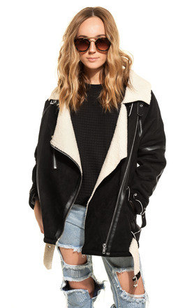 Faux shearling jacket by We Run This Product photo