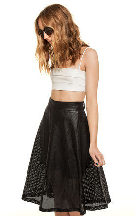 Panelled faux leather crop by We Run This Product photo