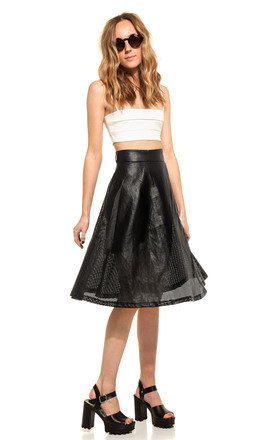 Faux leather mesh skirt by We Run This Product photo