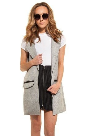Grey sleeveless jacket by We Run This Product photo