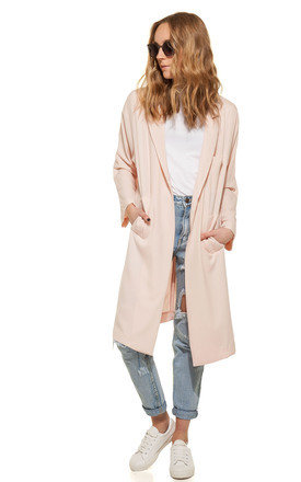 Dusty pink duster coat by We Run This Product photo