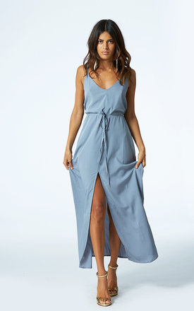 Split leg maxi in paloma grey by Dancing Leopard Product photo