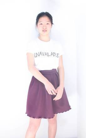 Purple skirt by Deborah Courtoy Product photo