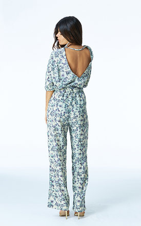 Kimono jumpsuit in floral print by Dancing Leopard Product photo
