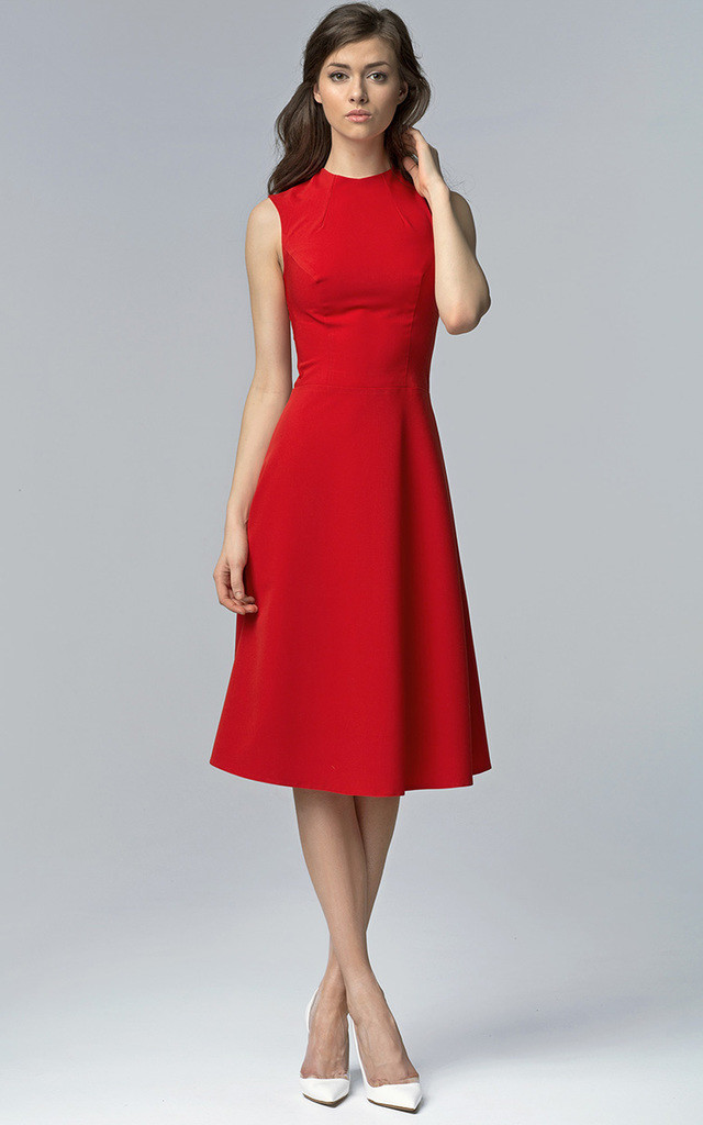 Red Midi Dress by Lanti