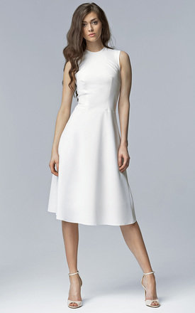 Ecru midi dress by Lanti Product photo