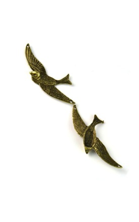 Antique swallow charm by Emi Jewellery Product photo