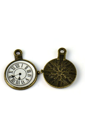 Antique clock charm by Emi Jewellery Product photo