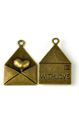 Antique love letter charm by Emi Jewellery Product photo
