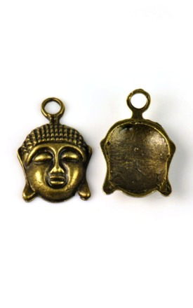 Antique buddha charm by Emi Jewellery Product photo