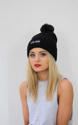 Black bobble beanie by Cats got the Cream Product photo