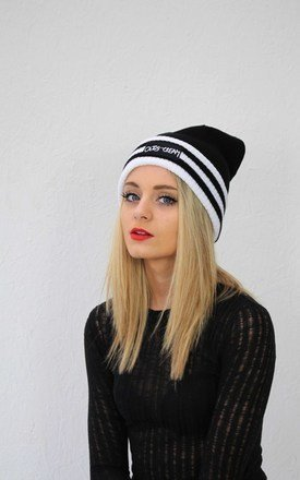 B&w bobbled beanie by Cats got the Cream Product photo
