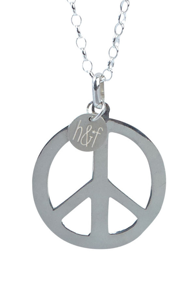 925 Sterling Silver Large Peace Pendant by Helix and Felix