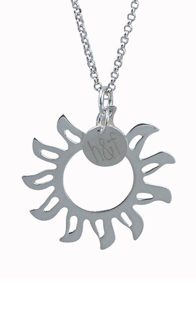 925 Sterling Silver Mandala Sun Pendant by Helix and Felix
