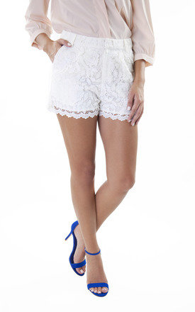 Ivory lace shorts by Wolf & Whistle Product photo